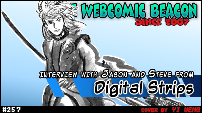 The Webcomic Beacon featuring Steve and Jason from Digital Strips